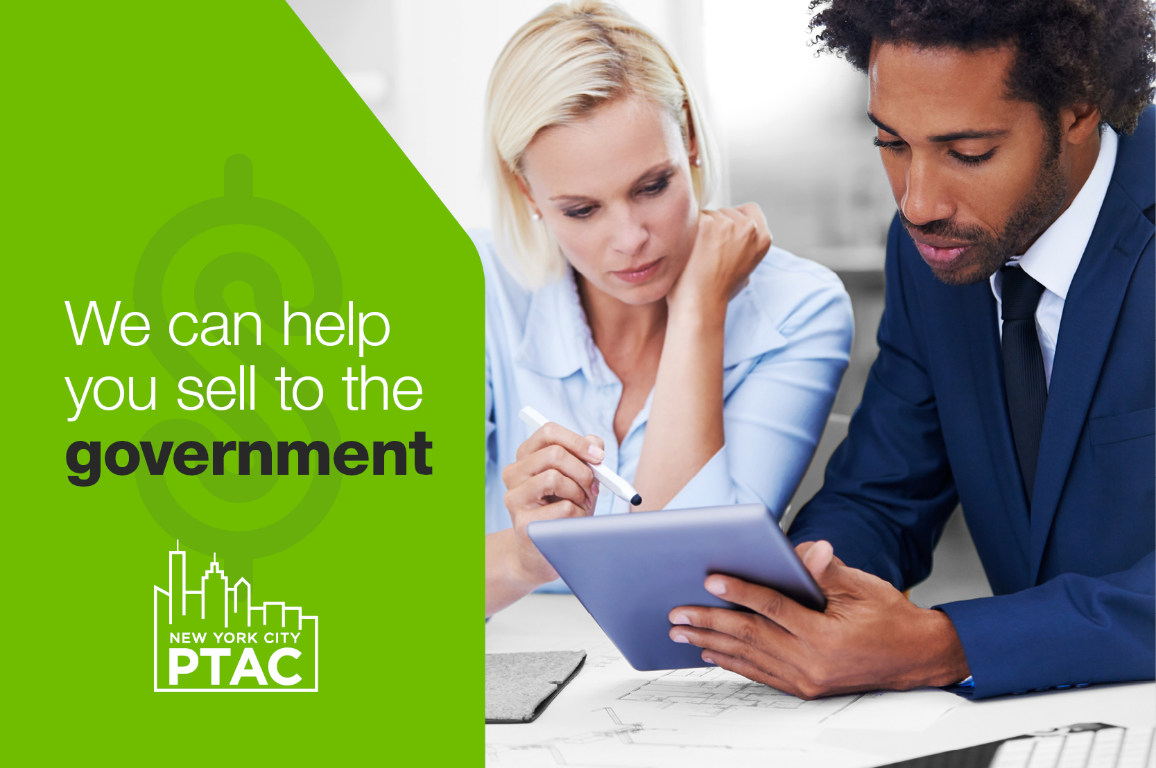 We can help you sell to the government.