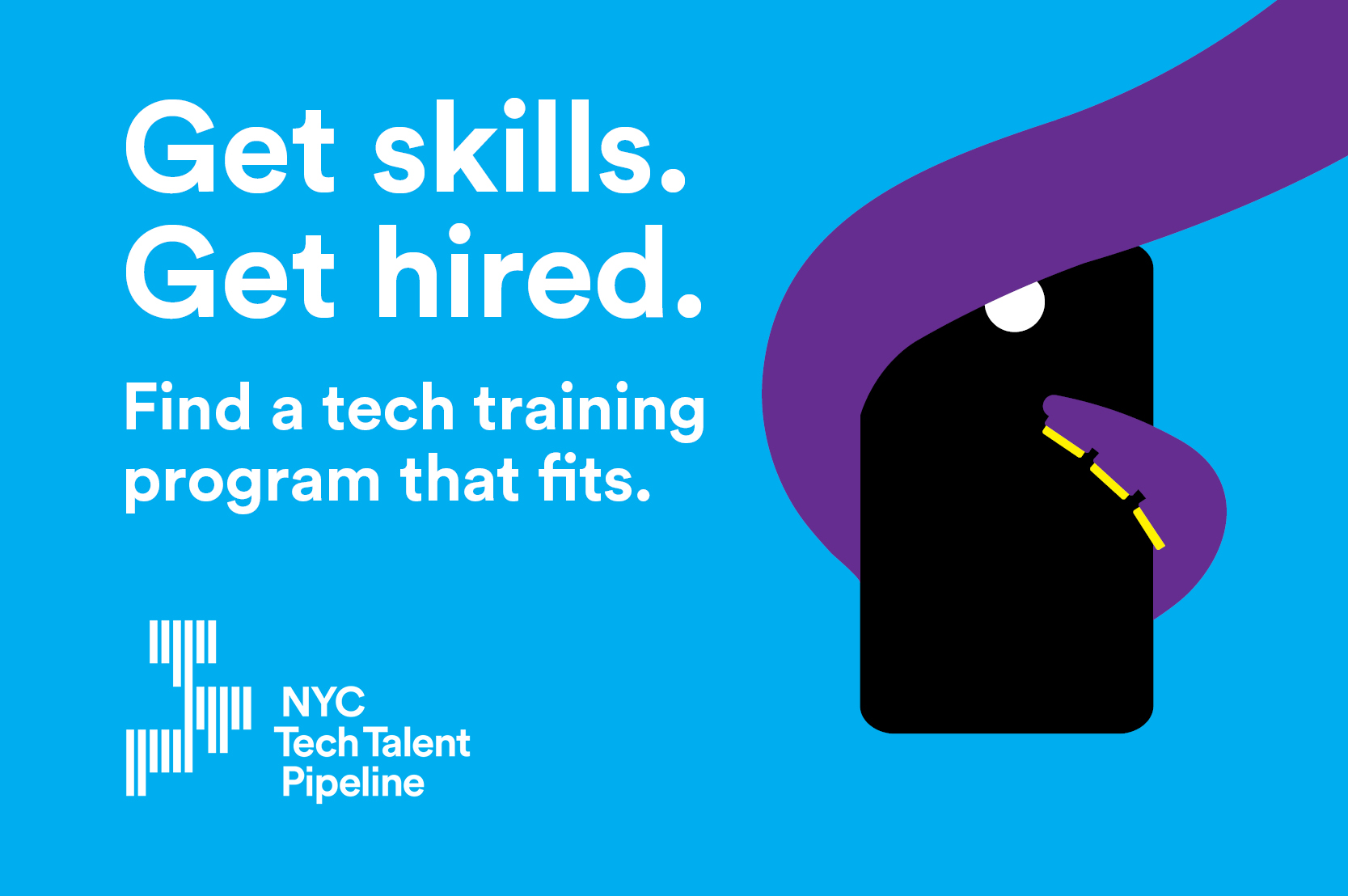 Get skills. Get hired. Find a tech training program that fits.