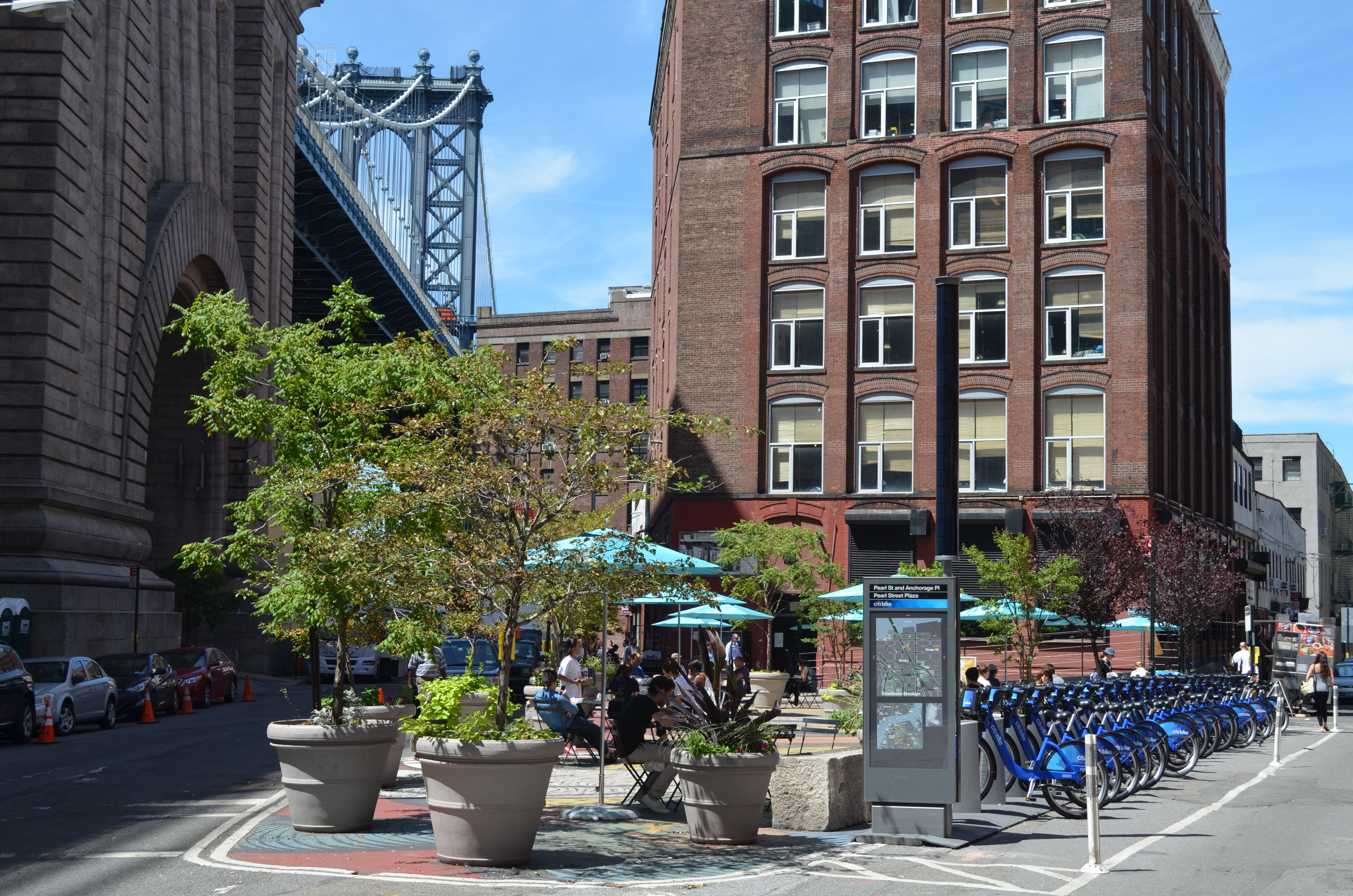 Pearl Street Triangle under the Manhattan Bridge in DUMBO