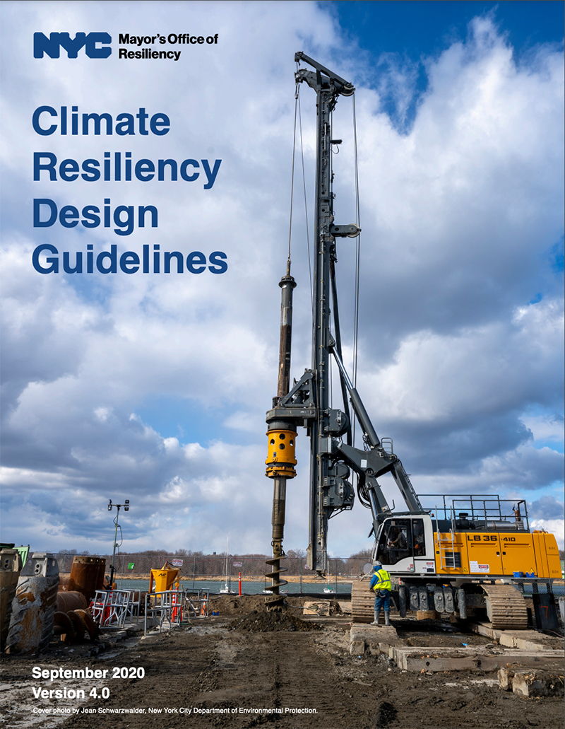 Climate Resiliency Design Guidelines report cover