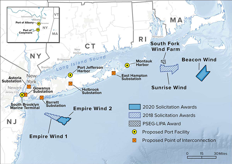 Offshore Wind Projects map