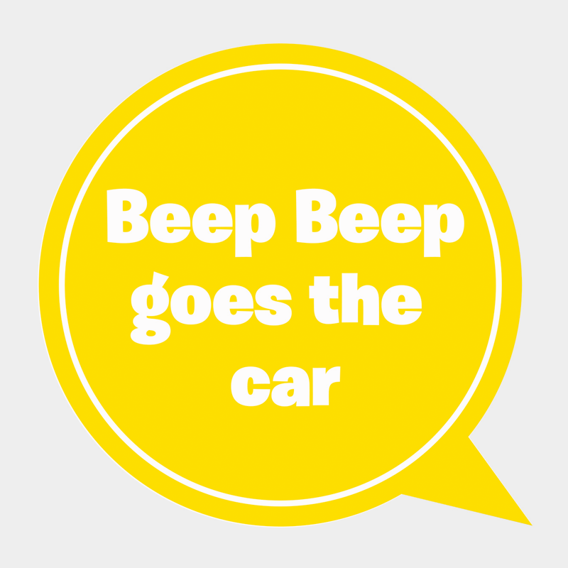 Beep beep goes the car
