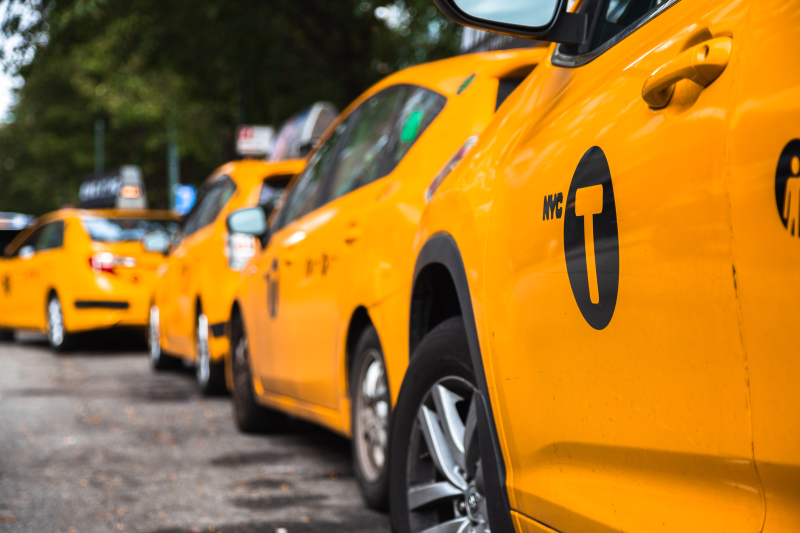 image of yellow cabs