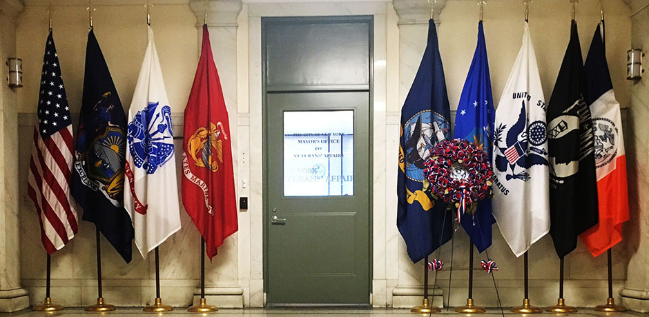 US Department Flags.