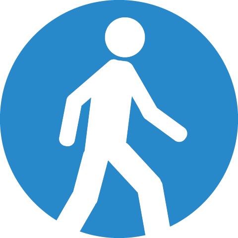 Symbol of a Person Walking