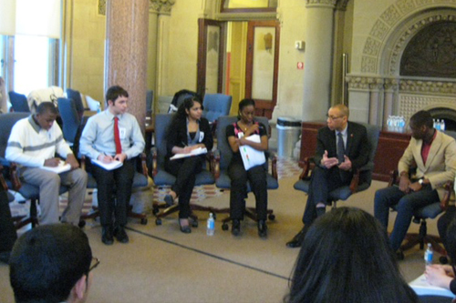 Mayor's Youth Leadership Council Meet With Schools Chancellor Dennis Walcott