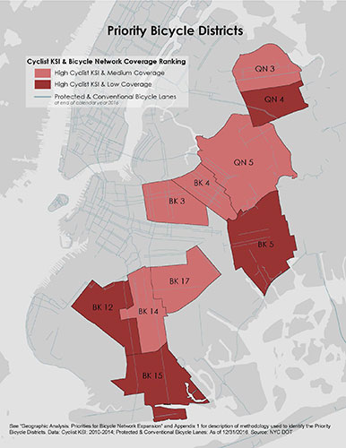 Bike New York Map.Nyc Dot Safer Cycling Bicycle Ridership And Safety In New York City