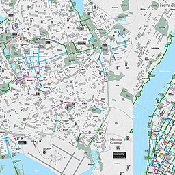 Bike Lane Nyc Map Dot Map Nyc on