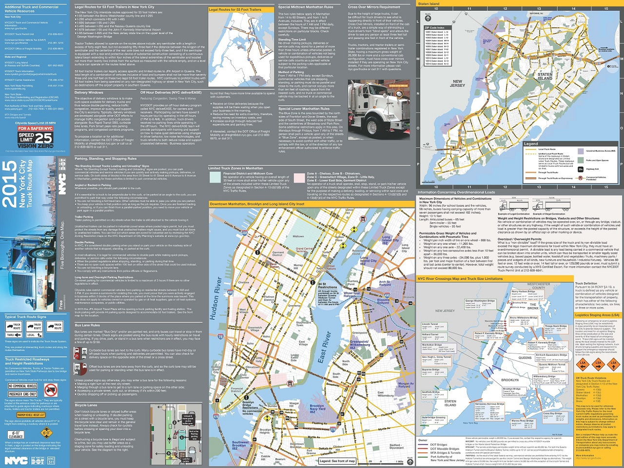 Central Park New York Map Pdf.Nyc Dot Trucks And Commercial Vehicles
