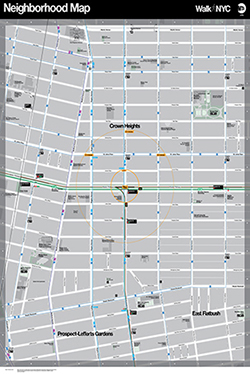 Nyc Neighborhood With Subway Map.Nyc Dot Walknyc