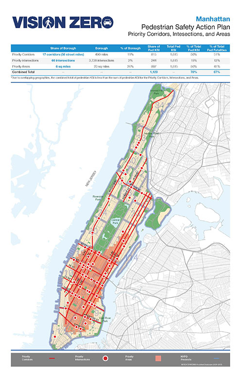 Nyc Dot Press Releases Dot And Nypd Release Vision Zero